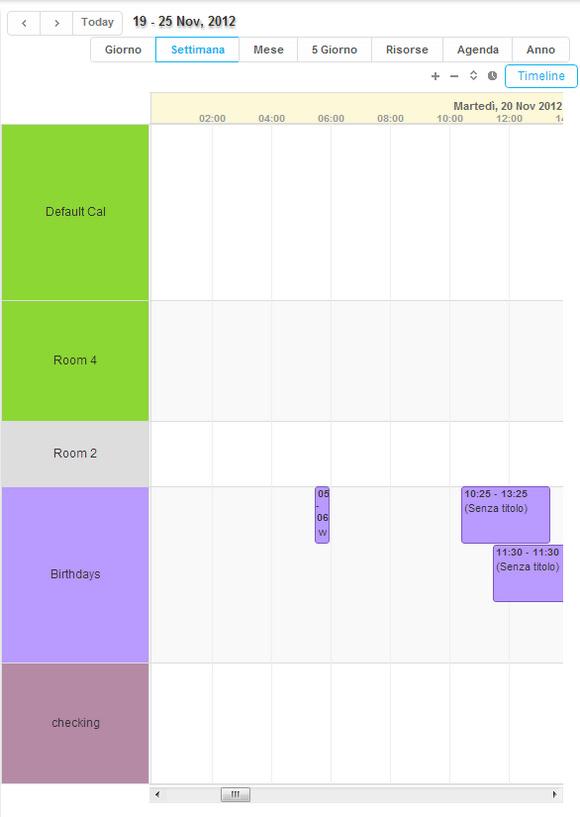 visione calendario appuntamenti settimanale