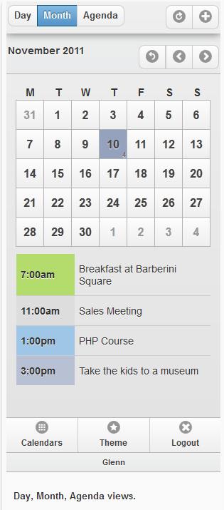 versione per cellulare calendario utente aziendale per appuntamenti online