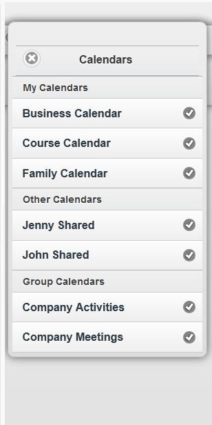programma che mostra lista calendari online per android iphone ipad e windows mobile