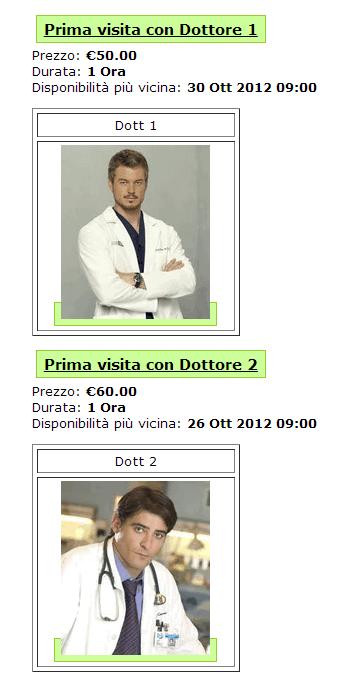 Un esempio di prenotazione appuntamento con un medico