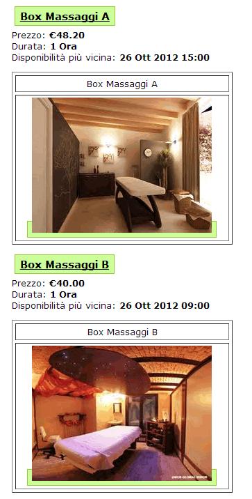 Un esempio di prenotazione appuntamento per una seduta di massaggio