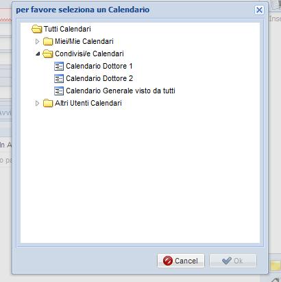 calendario seleziona utente