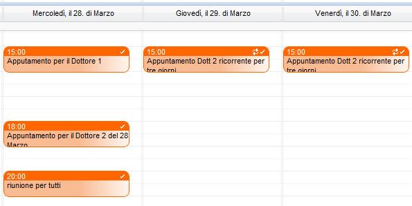 appuntamenti vista a calendario