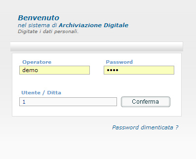 archiviazione documentale login