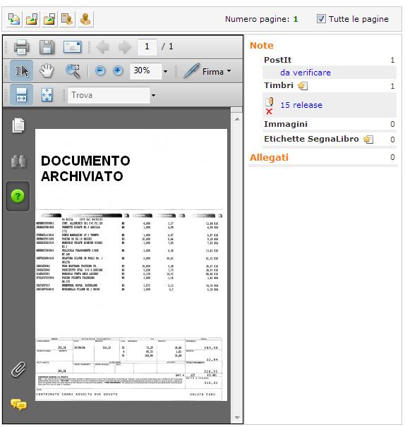 note documento e visualizzazione acrobat pdf