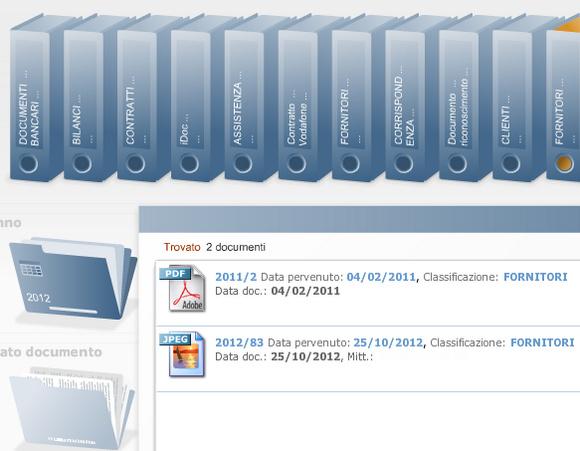 Consultazione Grafica Archiviazione Files Trovati