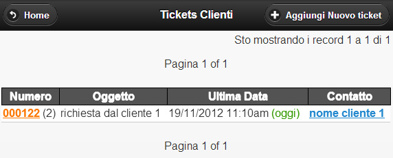 Ticket di assistenza cliente visti dal cellulare iPhone, Android, iPad, WindowsPhone