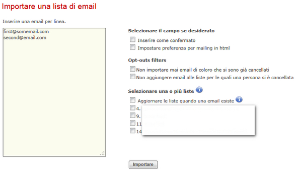 importa email