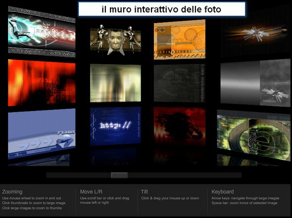 muro interattivo delle foto
