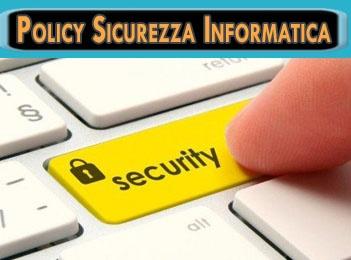 policy sicurezza informatica