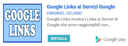 Google Links ai Servizi Google